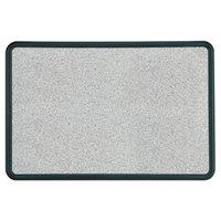 Quartet 699375 Contour 36 inch x 48 inch Granite Gray Bulletin Board with Black Plastic Frame