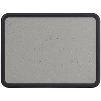 Quartet 699375 Contour 36 inch x 48 inch Granite Gray Bulletin Board with Black Plastic Frame
