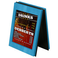 Menu Solutions CHRT7 Charleston 5 inch x 7 inch Sky Blue Two View Wooden Table Tent