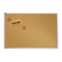 Quartet ECKA408 48 inch x 96 inch Cork Board with Silver Aluminum Frame