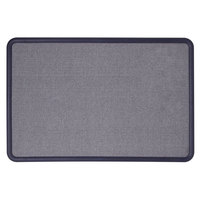 Quartet 7694BE Contour 36 inch x 48 inch Light Blue Fabric Bulletin Board with Navy Blue Plastic Frame