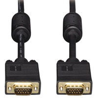 Tripp Lite TRPP502006 6' Black VGA Monitor Cables with Two HD15 Male Connectors