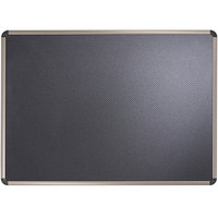 Quartet B367T 48 inch x 72 inch Black Embossed Foam Bulletin Board with Euro Titanium Aluminum Frame