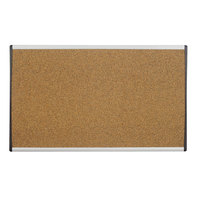 Quartet ARCB3018 18 inch x 30 inch Cork Board with Silver ARC Aluminum Frame