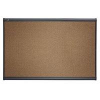 Quartet B244G Prestige 36 inch x 48 inch Graphite-Blend Cork Board with Gray Plastic Frame
