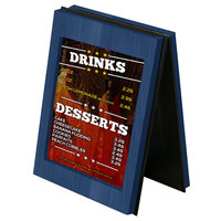 Menu Solutions CHRT7 Charleston 5 inch x 7 inch True Blue Two View Wooden Table Tent