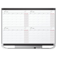 Quartet 4MCP43P2 Prestige 2 36 inch x 48 inch Total Erase Magnetic 4-Month Calendar Whiteboard with Graphite Plastic Frame