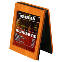 Menu Solutions CHRT7-MANDARIN Charleston 5 inch x 7 inch Mandarin Two View Wooden Table Tent