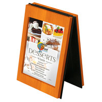 Menu Solutions CHRT4-MANDARIN Charleston 4 inch x 6 inch Mandarin Two View Wooden Table Tent
