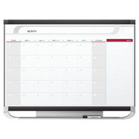 Quartet CP32P2 Prestige 2 24 inch x 36 inch Total Erase Magnetic Monthly Calendar Whiteboard with Graphite Plastic Frame