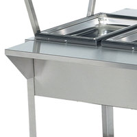 Vollrath 38095 76 inch Plate Rest for Vollrath ServeWell 5 Well / Pan Hot or Cold Food Tables