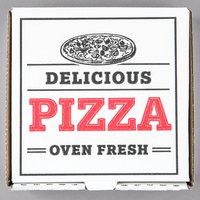 Choice 7 inch x 7 inch x 1 3/4 inch White Corrugated Pizza Box - 50/Case