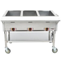 APW Wyott PSST3 Portable Steam Table - Three Pan - Sealed Well, 208V