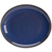 Homer Laughlin 13249026 Indigo™ 12 inch Oval Flipside China Platter - 12/Case