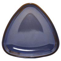 Homer Laughlin 13199026 Indigo™ 8 3/4 inch Triangular Flipside China Plate - 12/Case