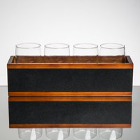 Core Beer Flight Set - 4 Beer Pub Taster Glasses with Wood Tasting Crate