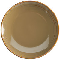 Homer Laughlin 131041439 Sepia™ 10 1/2 inch Round Flipside China Plate - 12/Case