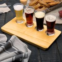 Acopa Tasting Flight Set - 4 Flare Sampler Glasses with Natural Wood Taster Board