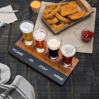 Acopa Tasting Flight Set - 4 Flare Sampler Glasses with Write-On Taster Board