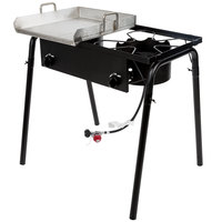 Backyard Pro 32 inch Double Burner Outdoor Range with 15 inch Griddle Plate - 150,000 BTU