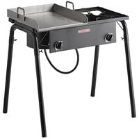 Backyard Pro GKIT-HF 32 inch Double Burner Outdoor Range with 15 inch Griddle Plate - 150,000 BTU
