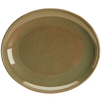 Homer Laughlin 13249030 Pesto® 12 inch Oval Flipside China Platter - 12/Case