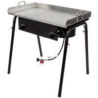 Backyard Pro 32 inch Double Burner Outdoor Range with 30 inch Griddle Plate - 150,000 BTU