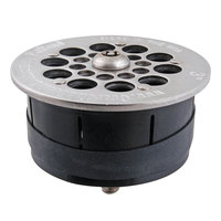 FMP 102-1166 Guardian Hybrid 3 inch Drain-Lock Floor Sink Strainer with 3 3/8 inch Round Top Plate