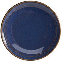 Homer Laughlin 13109026 Indigo™ 10 1/2 inch Round Flipside China Plate - 12/Case