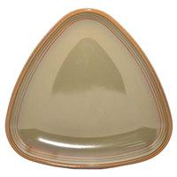 Homer Laughlin 13199030 Pesto® 8 3/4 inch Triangular Flipside China Plate - 12/Case
