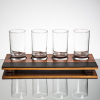 Core Juice / Beer Flight Set - 4 Juice / Beer Sampler Glasses with 4-Well Write-On Sampler Tray