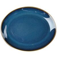 Homer Laughlin 3159026 Indigo™ 13 1/8 inch x 10 1/2 inch Oval Empire China Platter - 12/Case