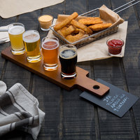 Acopa Tasting Flight Set - 4 Pub Sampler Glasses with Dual-Sided Taster Paddle