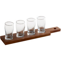 Acopa Dual-Sided Flight Paddle with Pub Tasting Glasses