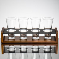 Core Beer Flight Set - 4 Beer Flare Pilsner Glasses with 4-Well Drop-in Paddle