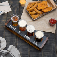 Acopa Tasting Flight Set - 4 Flare Sampler Glasses with Drop-in Taster Caddy