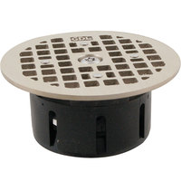 FMP 102-1173 Guardian 3 1/2 inch Drain-Lock Zurn Floor Drain Grate with 5 inch Round Top Plate