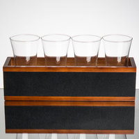 Core by Acopa Tasting Flight Set - 4 Flare Pilsner Sampler Glasses with Write-on Taster Crate