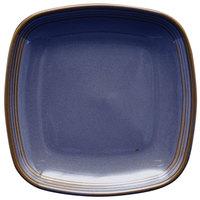Homer Laughlin 13309026 Indigo™ 8 3/4 inch Square Flipside China Plate - 12/Case