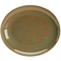 Homer Laughlin 13239030 Pesto® 10 inch Oval Flipside China Platter - 12/Case