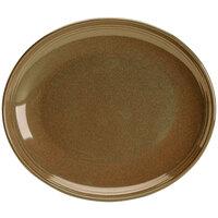 Homer Laughlin 132441439 Sepia™ 12 inch Oval Flipside China Platter - 12/Case