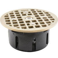 FMP 102-1172 Guardian 3 1/2 inch Drain-Lock Josam Floor Drain Grate with 4 11/16 inch Round Top Plate