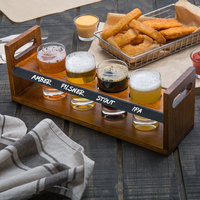 Acopa Tasting Flight Set - 4 Pub Sampler Glasses with Bridge Taster Caddy