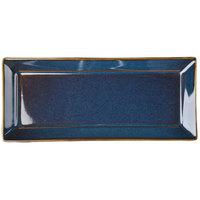 Homer Laughlin 0789026 Indigo™ 11 9/16 inch x 5 inch Rectangular Times Square China Platter - 12/Case