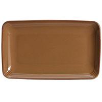Homer Laughlin 104541439 Sepia™ 11 1/4 inch x 6 3/4 inch Rectangular Flipside China Tray - 12/Case