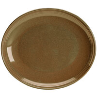Homer Laughlin 132341439 Sepia™ 10 inch Oval Flipside China Platter - 12/Case