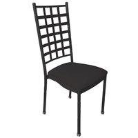 Holland Bar Stool STK-W-BKBK Black Wrinkle Stackable Chair with Black Vinyl Seat