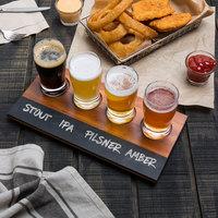 Acopa Tasting Flight Set - 4 Pub Sampler Glasses with Write-On Taster Board