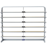 Bulman T624-30 30 inch Horizontal Gray 6 Roll Paper Cutter Rack