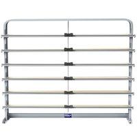 Bulman T624-30 30 inch Horizontal Gray 6 Roll Paper Cutter Rack